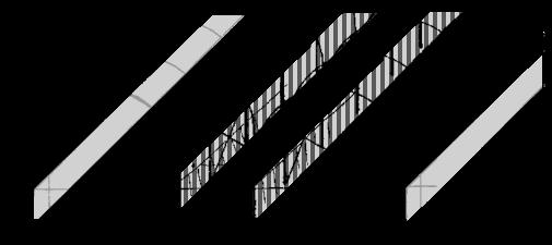 ossature de serres multi-voûtes pour tunnels agricoles, horticole ou d'élevage.