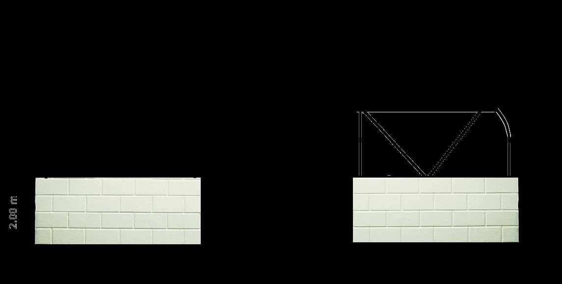 montage de serres Pretamo sur bâtiment de 2 m